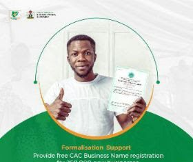 FREE 250,000 FG/CAC BUSINESS NAMES REGISTRATION FOR MSMEs