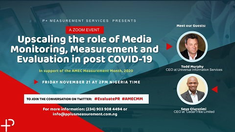 P+ Measurement Services in conjunction with AMEC is set to host the 2020 AMEC Measurement month event in Nigeria