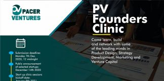Pacer VenturesannouncesPVFounders Clinicfor Startups