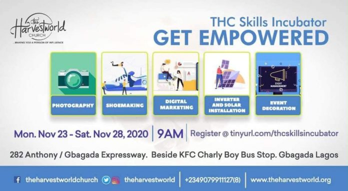 THE HARVESTWORLD CHURCH EMPOWERS YOUNG NIGERIANS THROUGH FREE SKILLS ACQUISITION PROGRAM..