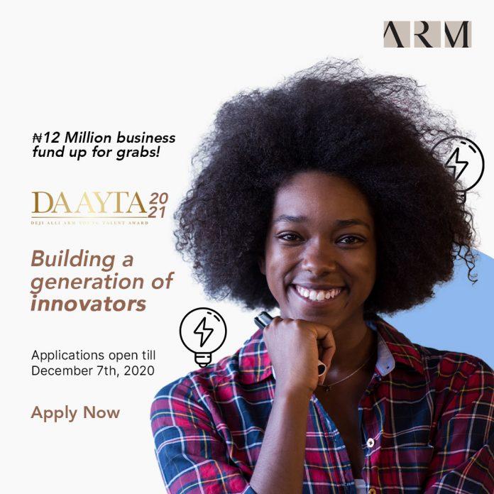 Deji Alli ARM Young Talent Award 2021
