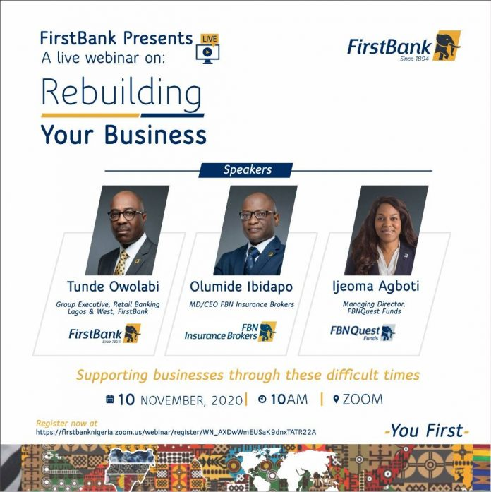 FirstBank to host SME webinar on rebuilding businesses