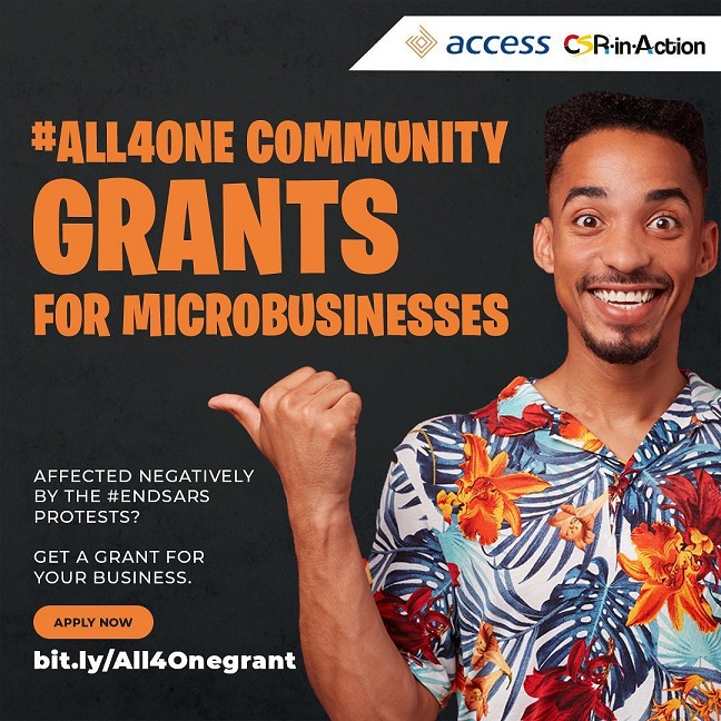 CSR-in-Action & Access Bank #ALL4ONE Community Grants to Microbusinesses affected by #EndSARS protest