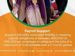 FG Reopens MSME Survival Fund Payroll Support Scheme Portal