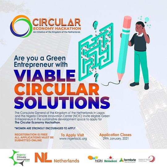 Call for Entries: The Dutch Circular Economy Hackathon for Green Entrepreneurs