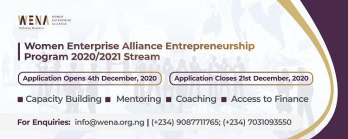Women Enterprise Alliance( WenA) Entrepreneurship Program 2020/2021 Stream