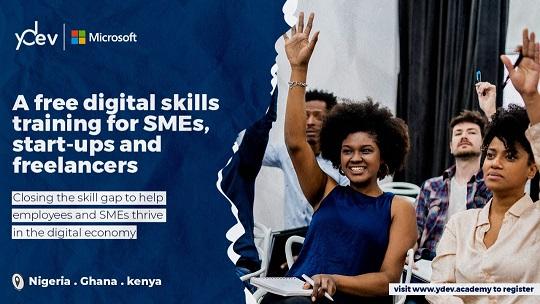 Microsoft 4Afrika Free Digital Skills Training for SMEs, Startups and Freelancers
