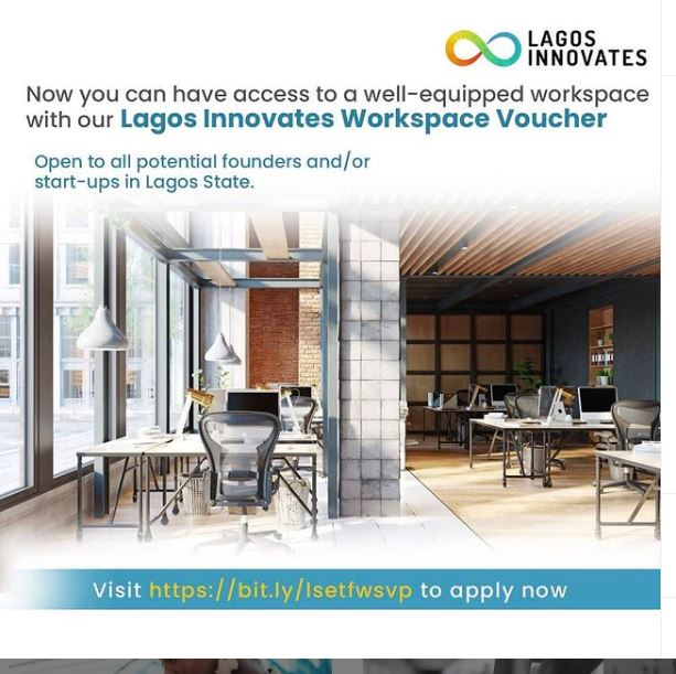 Lagos Innovates Workplace Vouchers (Access to Well-equipped Workspaces for Startups)