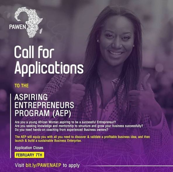 PAWEN Aspiring Entrepreneurs Program (AEP) for Women 2021