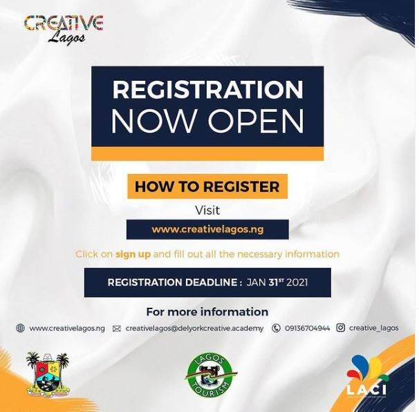 Creative Lagos Training and Re-Skill Initiative for 1,000 Lagos Residents