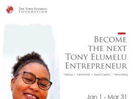 Application deadline for the Tony Elumelu Foundation Entrepreneurship Programme is March 31