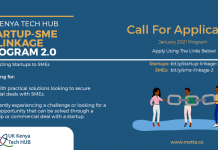 Call for Applications: UK-Kenya Tech Hub Startup-SME Linkage Program 2.0