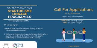 Call for Applications: UK-Kenya Tech Hub Startup-SME Linkage Program 2.0