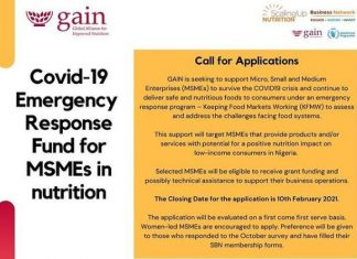 Second roll out of GAIN's Covid-19 Emergency Response Grants for MSMEs