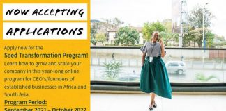 Seed Transformation Program for CEOs and founders in Africa and South Asia