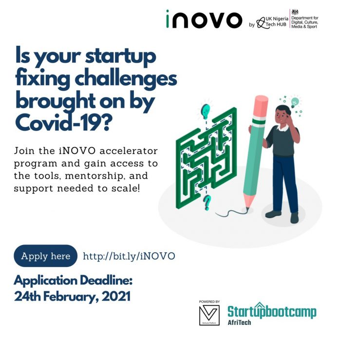 iNOVO by UK-Nigeria Tech Hub for Early Stage Startups