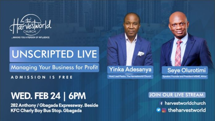 Unscripted Live at THC Hosts Seye Olurotimi of MSME Africa