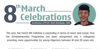 2021 March 8th Entrepreneurship Programme : N100,000 – N1,000,000 in Grants for MSMEs in honour of the birthday of Prof. Yemi Osinbajo