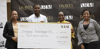 Tope Idris Sulaimon of Scrapays Emerges Winner of ARM DAAYTA 2021,Gets₦12m grant