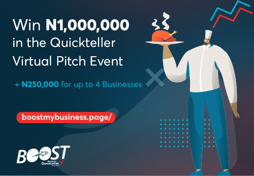 1Million Naira grant up for grabs in the Boost my Business with Quickteller Contest