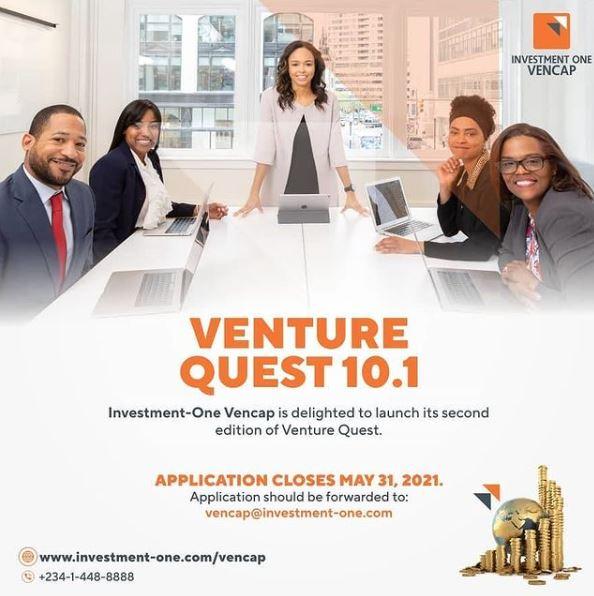 Venture Quest 10.1 Calling for Proposals from Entrepreneurs Seeking Financing