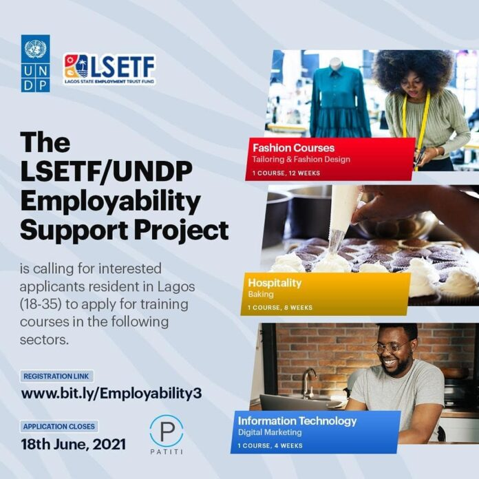 LSETF/UNDP Employability Support Project 2021 for Lagos Residents