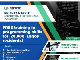 LSETF/ Ustacky/ Free Programming Training for 20,000 Lagos Residents