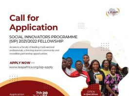 LEAP Africa Social Innovators Programme (SIP) 2021/22 Fellowship