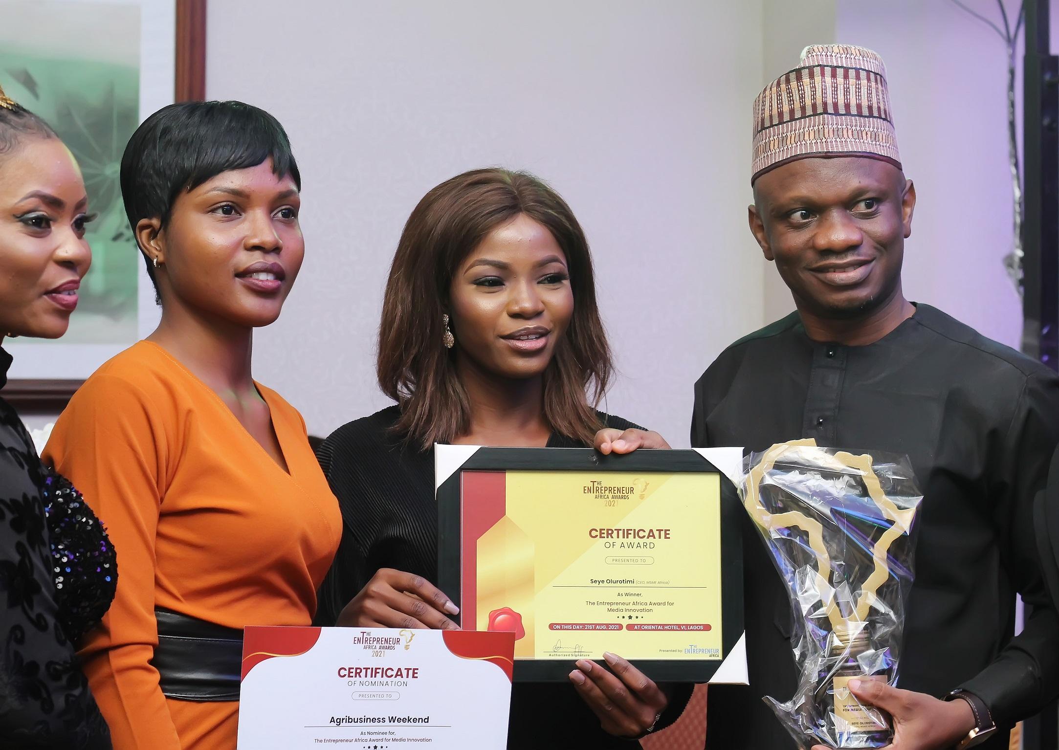 Entrepreneurs Africa Award 2021