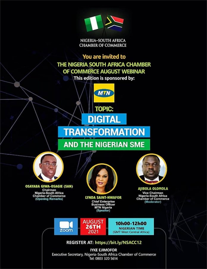 Nigeria-South Africa Chamber of Commerce to Host Webinar on Digital Transformation and the Nigerian SME