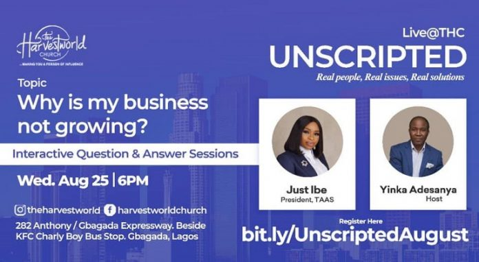 Unscripted Live @THC Shows Business Owners how to Grow Their Businesses.