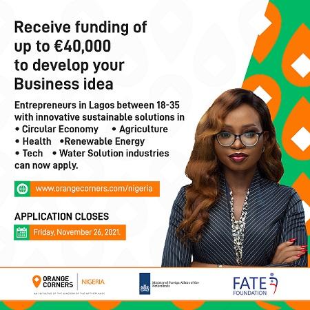 Orange Corners Nigeria Incubation Programme (Up to €40,000 Funding)